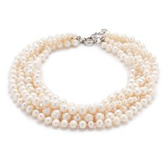 Genuine freshwater pearls, hand sorted for size and lustre, get all twisted up for a new approach to classic beauty.