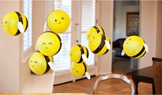 Abejas con globos para decorar fiestas #manualidades #cumpleaños #diy #fiestasinfantiles