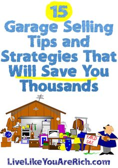 Although it may seem very easy and straightforward, there are a lot of tips and some strategy that goes into successful garage selling. It's not a random 'luck-of-the-draw'-scavenger-hunt like many people think it is. You also don't need to spend the whole day... #LiveLikeYouAreRich