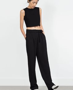 Image 2 of PLEATED TROUSERS from Zara