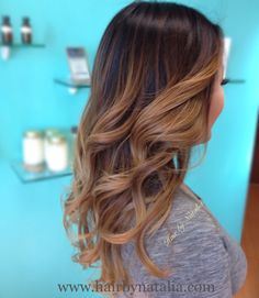 Balayage, Bronder, Ombre. Warm, Caramel Sombre.  Soft seamless Balayage color…