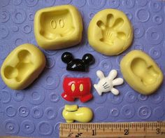 MICKEY mouse MOLD set glove shorts hand ears foot by MainlyMolds