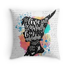 Peter Pan - To Live Throw Pillows