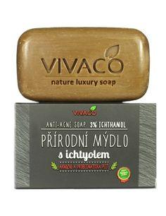 Prírodné mydlo s ichtyolom Acne Soap, Luxury Soap, Aqua, Water