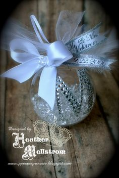 Rhinestone Monogram Christmas Ornament. I'm thinking home made ornaments for Christmas!!?
