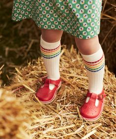 Little Bird by Jools Red Buckle Shoes
