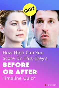 This trivia quiz will test your knowledge on how well you recognize Grey's Anatomy events in the correct order. #greys #shondaland #greysLove #greysrandomQuiz #greysFan #meredithgrey #shonda #GreysAnatomy #greysquiz #greysnostalgia #greysAnatomyTrivia Callie Torres, Greys Anatomy Facts, Arizona Robbins, Cristina Yang, Trivia Quiz, Meredith Grey, Quizzes, Timeline, How To Find Out