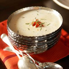 Potato Soup`Whether you're hosting a holiday get-together or enjoying dinner in with friends, these delicious recipes make an American favorite sing.