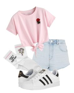""""" by pyatt184 ❤ liked on Polyvore featuring Topshop, Yeah Bunny, WithChic and adidas"