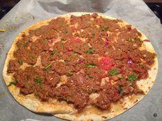Falsche Tuerkische Pizza in 7 Minuten - Lahmacun Wrap