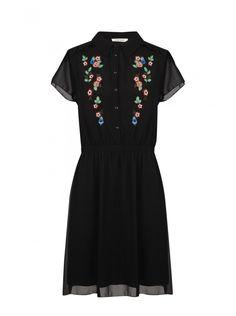Naf naf nouvelle co h15 robe imprimé fleuri noir 1