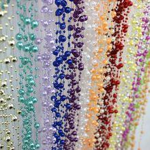 Mode Multicolore 5 Mètres Beige De Pêche Ligne Perles Perles Chaîne Garland Fleurs De Mariage Partie Décoration Perle Chaîne 17 Couleurs(China)