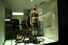 Alexander McQueen windows at Bond street, London