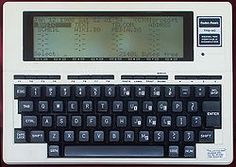 The Tandy 100: The first sub-notebook. Ran on AA batteries pretty much forever. (Although it had no storage, only RAM, so when the batteries ran out, so did your work.)