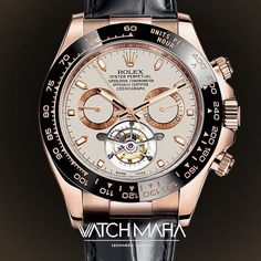 Ladies  and gentlemen  I want show the first ever version of #rolex Daytona with #tourbillon  created by us  Every day we will present a new creative watch made by us  Do you like this Daytona?  by watchmafialc