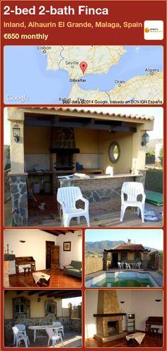2-bed 2-bath Finca to Rent in Inland, Alhaurin El Grande, Malaga, Spain ►€650