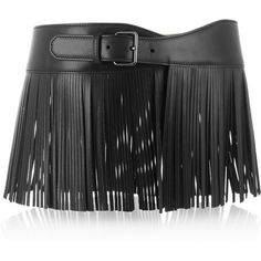 Alaïa Fringed leather waist belt ($1,530) ❤ liked on Polyvore featuring accessories, belts, black, leather belt, alaïa, black belt, real leather belts and genuine leather belt
