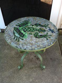 Mosaic frog table