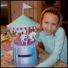 Cowie's Craft And Cooking Corner: Carousel St. Valentine's Day Valentine Box For Girls