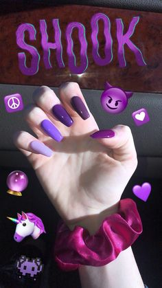 Black And Purple Nails, Lilac Nails, Pastel Nails, Pastel Purple, Purple Nail Designs, Girls Nails, Nail Games, Purple Aesthetic, Mean Girls