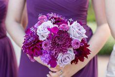 Purple Chrysanthemum and Rose Bouquet