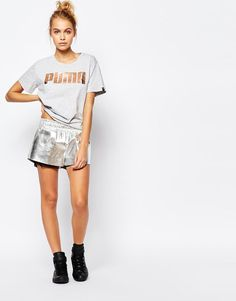 puma rose gold shorts