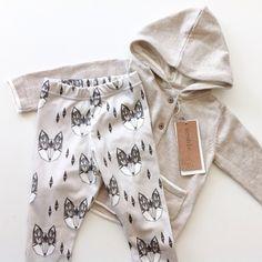 Instagram photo by ellesklingen - leggings by tiger nook designs - fox print by Andrea Lauren