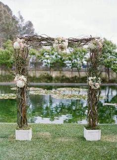 Arco para el altaron arreglo floral