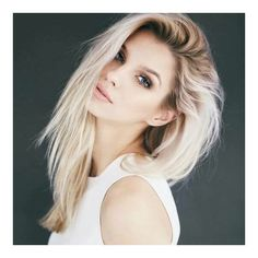 Dark roots and platinum blonde hair ❤ liked on Polyvore featuring accessories and hair accessories