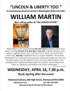 Best selling author William Martin at the Westwood Public Library....