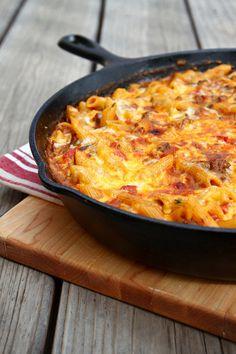 Southwest Chili Con Queso Pasta via Lets Dish Recipes #pasta #recipe
