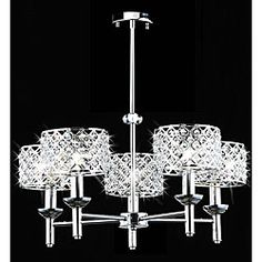 @Overstock - Update the look of any room and brighten things up with a beautiful light. This gorgeous chandelier has five lights, a chrome finish and shining crystal balls.   http://www.overstock.com/Home-Garden/5-light-Modern-Crystal-Chrome-Chandelier/5036711/product.html?CID=214117 $214.99
