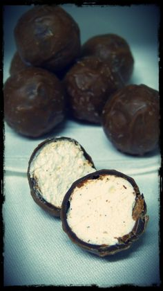 Milk chocolate coated marshmallows