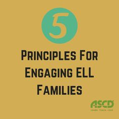 Pinned by Mayra Velazquez (chapter 5 Principles For Engaging ELL Families - Applying family-friendly principles helps make typical school routines more inviting to families. Ell Strategies, Teaching Strategies, Ell Students, Family Engagement, School Social Work, School Routines, English Language Learners, Bilingual Education, Educational Leadership