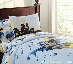 I love the Batman™ Duvet Cover on potterybarnkids.com Finding full/double batman bedding is difficult! This looks awesome!