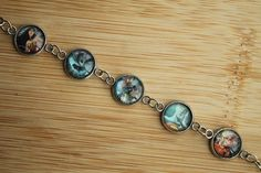 Handcrafted Justice League bracelet.  Made by hand from a Justice League comic book. I use all the pages from the book that I can and recycle the rest.