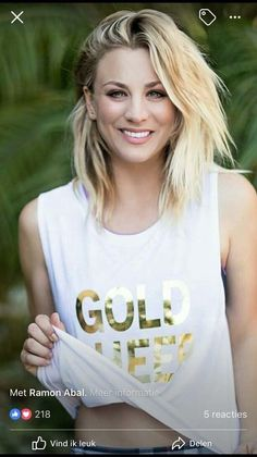 How Kaley Cuoco Bypassed the Awkward Stages in Growing Out Her Hair – Celebrities Female Blonde Actresses, Hot Actresses, Kaley Cuocco, Beautiful Celebrities, Beautiful Females, Hot Blondes, Hair Journey, Big Bang Theory, American Actress