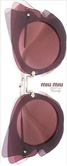 Miu Miu Eyewear Oversized Sunglasses