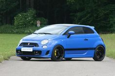 2012 Fiat 500 Abarth Sportster Baby Blue tuned by G-Tech