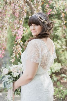 bridal portrait - photo by Jenn Kavanagh Photography http://ruffledblog.com/blush-pink-canadian-wedding