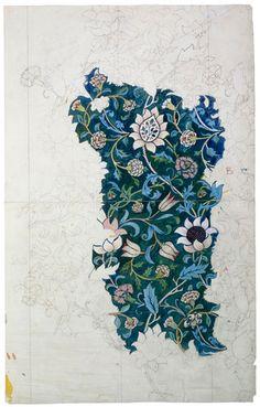 design for wallpaper, william morris, late 19th century. museum no. e.543-1939