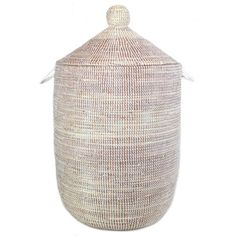 {for the guest room during the busy holidays} Handmade Fair Trade Woven African Hamper - Beige #fairtuesday #fairtrade #fairtuesdaygifts