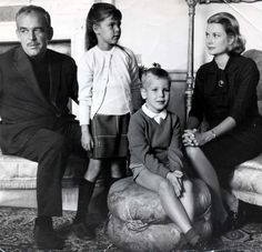 Prince Rainier, Princess Caroline, Prince Albert and Princess Grace! Doesn't Andrea Casiraghi has a striking resemblance to his Uncle! Looking forward to the Santo Domingo and Casiraghi nuptials!