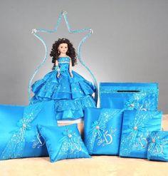 Set includes: Last Doll, card box, Bible, guest book, photo album, kneeling pillow and tiara pillow Sweet Fifteen, Quince Ideas, Quinceanera Ideas, Sweet 16 Parties, Winter Wonderland, Aurora Sleeping Beauty, Bible, Dolls, Christmas Ornaments