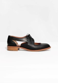 Crafted from leather, these flats have a dandy-meets-dainty style. Please note, this style fits large to size, so it might be a good idea to order one size smaller than usual.