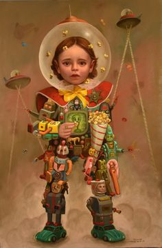 The fantastic oil paintings of imaginary realist, Carrie Pearce Contemporary Artwork, Contemporary Artists, Arte Lowbrow, Painting Collage, Paintings, Tattoo Magazines, Realism Art, Pop Surrealism, Modern Artists