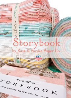 Beautiful fabric for some spring quilts. Make some magic with Storybook pre-cuts by Kate & Birdie for Moda Fabrics