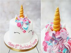 Another beautiful unicorn cake, I love the colours on this one and the added butterflies in the buttercream mane.  Wonderful! #unicorncake #buttercreamswirlsunicorn   https://www.craftycakes.com/