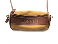 vintage 1990s small purse cylinder bag esprit by diaphanousvintage