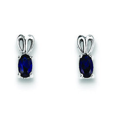 New Ladies Sterling Silver Blue Topaz Celtic Earrings Studs 43mm 925 Hallmarked